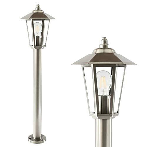Außenleuchte Standleuchte Außenlampe Edelstahl Gartenlampe Wegeleuchte Stehlampe Gartenleuchte Außenstandleuchte 601 (ohne Leuchtmittel)