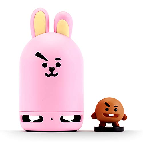 BT21 Official BTS Friends Duo Bluetooth Stereo Portable Speaker & Figure Set for Home, Outdoors, Travel (Speaker Cooky + Figure SHOOKY)