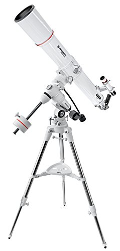 Bresser Teleskop Messier AR-90/900 EXOS1/EQ4 mit äquatorialer Montierung, 3-Bein Stahlrohrstativ mit universeller Prismenaufnahme für die Mond und Planetenbeobachtung
