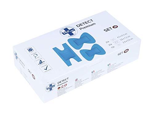 HierBeiDir Pflaster-Set Detect, extra flexibel & dehnbar, atmungsaktiv, hautfreundlich, hypoallergen, 50 Stück, für Fingergelenk & Fingerkuppe
