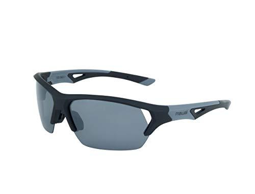 Mawaii Sunglasses Blade HD - polarisierte SportSonnenbrille für Damen und Herren, Sport Performance Sonnenbrille, Rahmen matte black/grey, Gläser grey