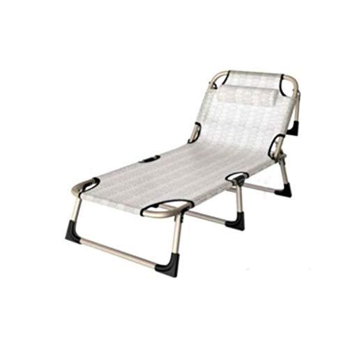 Chaise longue de terrasse - Chaise longue - Chaise longue - Lit pliant - Pour balcon, plage - Chaise longue - Chaise longue inclinable - Chaise de jardin - Style G