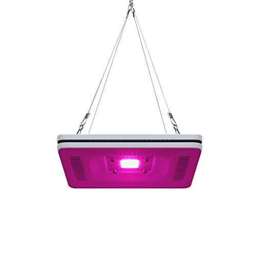 FECiDA Waterproof LED Grow Light, 300W CFL & HPS Grow Light Equivalent, Premium Full Spectrum Plant Grow Light for Indoor Plants, Smart and Silent Grow Lights Born for Grow Tent and All Small Space