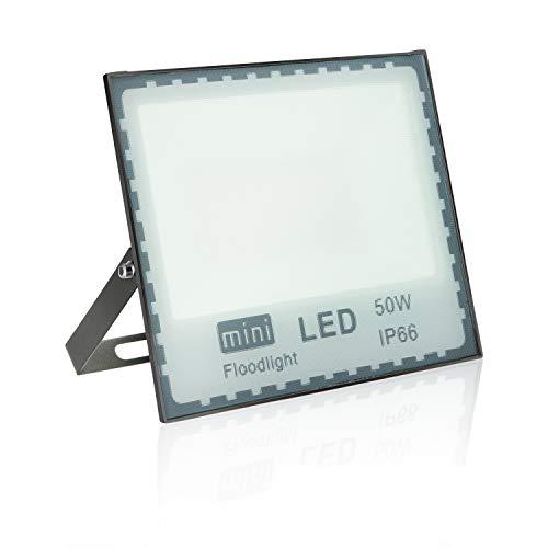 focos led exterior 50W Blanco focos led 5000LM Resistente al Agua IP66,proyector led foco led exterior 50w SMD2835 Floodlight Exteriores/Interiores
