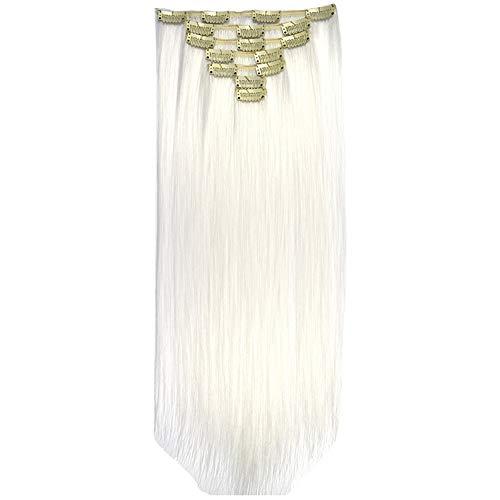 Mitlfuny➤Black Friday & Cyber Monday -80%➤Voller Kopf-Frauen-Klipp-synthetischer Hochtemperaturdraht-gerades Haarteil