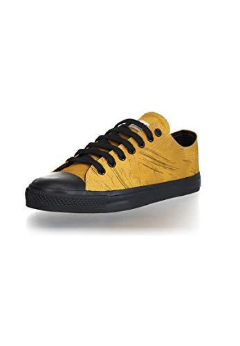 Ethletic Unisex Sneaker Lo Fair Trainer Black Cap Dove camo Mustard | Jet Black 36 Fair | Vegan | Nachhaltig