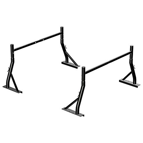 TMS 800Ibs Capacity Extendable Universal Steel Pick-Up Truck Ladder Rack Utility Two bar Set (Patent Pending) (27-3/8'')