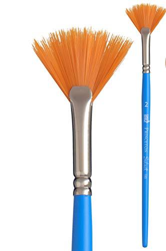 Princeton Art & Brush pennelli misti Select Artiste per olio, acrilico, acquerello Serie 3750, Blue, Fan Synthetic 2