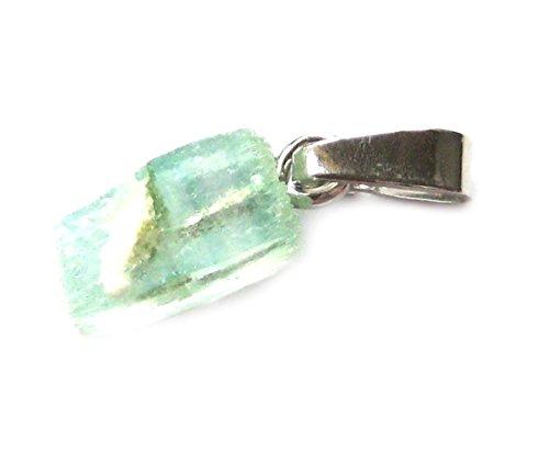 Anhänger Rohstein Apophyllit grün 1-1,5 cm mit 925er Silber-Öse