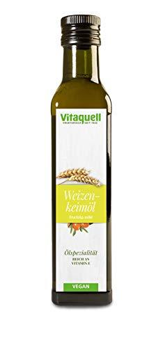 Vitaquell Weizenkeim-Öl mit Sanddorn 250 ml, reich an Vitamin E