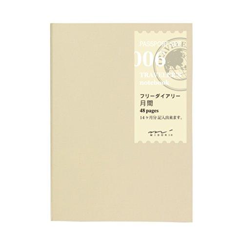 トラベラーズノート 手帳 リフィル マンスリー 月間フリー パスポートサイズ 14326006