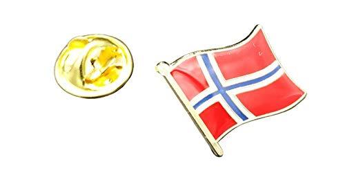 Gemelolandia   Pin de Solapa Bandera Mastil Noruega 16x15mm   Pines Originales...