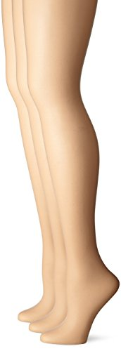 No Nonsense Women's Control Top Pantyhose 3-Pack, Nude, B