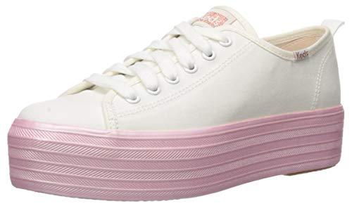 Keds Women's Triple Up Shimmer Sneaker, Cream, 11 M US