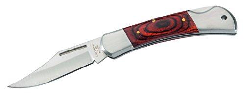 Herbertz Taschenmesser, Heftlänge 9 cm, AISI 420, Pakkaholz Messer, grau, M