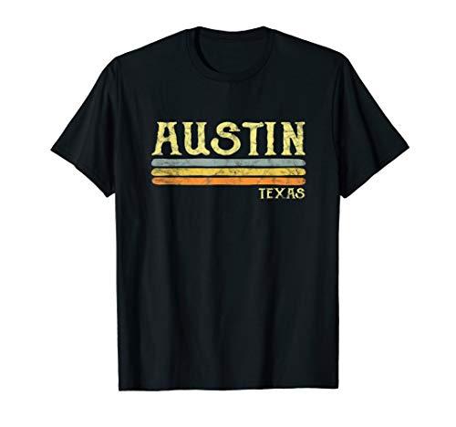 Vintage Austin Texas Tx T-shirt Retro Love Gift Souvenir