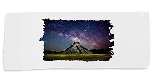 Toalla Mediana Gimnasio Gym Absorbente Templo Maya Azteca Selva Suave con bolsita