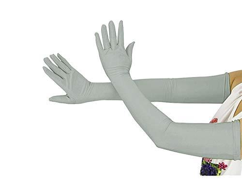 Insun Unisex Adultos y Niños Guantes de Cosplay de Lycra de Halloween Disfraz de Segunda Piel Gris Claro