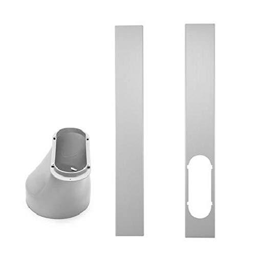 Placa de Kit de Ventana, Adaptador de Ventana para Aire Acondicionado portátil o 2 Piezas Placa de Sellado Ajustable Placa de Kit de Deslizamiento, 1PC 6'Kit de Deslizamiento de Sello de ventilación