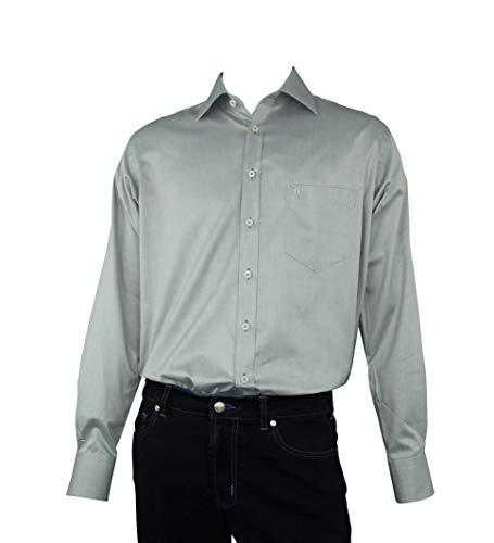 DIGEL Hemd Hemd Didier in Grau fein gestreift, Vollzwirn, Größe: 39