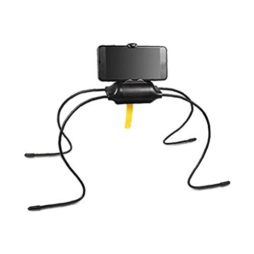 Sostenedor del soporte del teléfono del estante del sostenedor flexible del teléfono celular de la tableta Soporte de teléfono multifuncional bastidor forma de araña sentido práctico funcional Negro