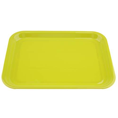 SM SunniMix Plat à Servir Ustensile de Cuisine Plateau Service Plastique Rectangle - Vert M