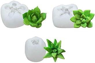 3pcs Succulent Plant Flower Wedding Baking Mould Silicone Fondant Cake Mold