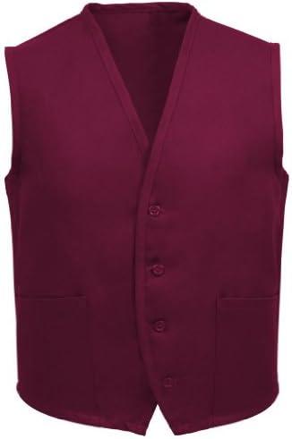 Burgundy Fame Fabrics 23330 V65 Unisex Vest 2 Pockets MD