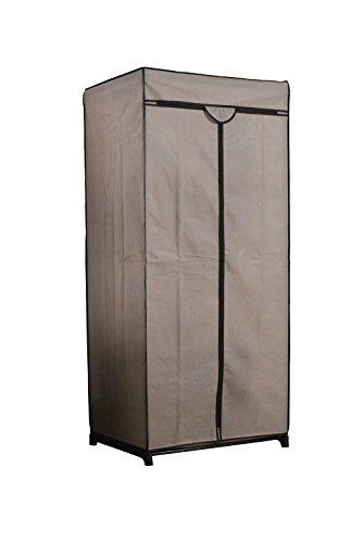 Compactor Armario tela top. Con estructura metálica y funda exterior, Tamaño 75 x 50 x 160 cm, Color Beige, RAN6663