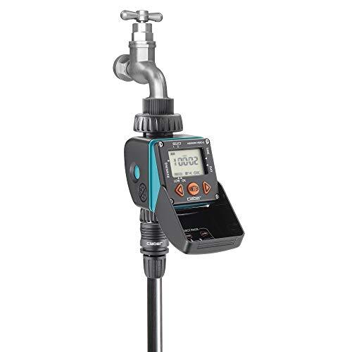 Claber 8428Aquauno Video-2 Elektronischer Bewässerungscomputer, schwarz/orange/grau