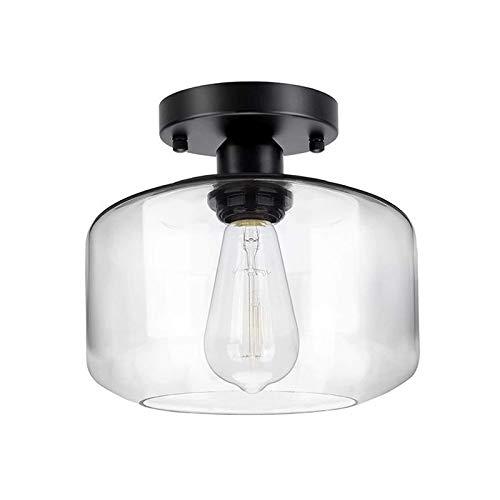 H HILABEE Lámpara de Techo Industrial Lámpara de Vidrio Cortijo Lámparas Colgantes