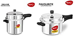 Pigeon By Stovekraft Favourite Induction Base Aluminum Pressure Cooker With Outer Lid