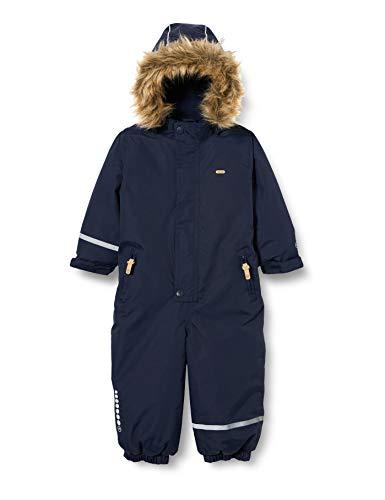 MINYMO Unisex-Child Snow Suit Tusser solid Snowsuit, Navy, 116