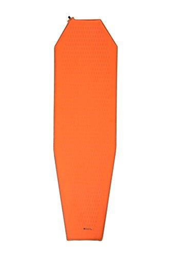 Mountain Warehouse Matelas autogonflable - Forme en Pointe, vanne d'inflation, Anti-déchirure, léger, Compact - Festivals, invités Orange Taille Unique
