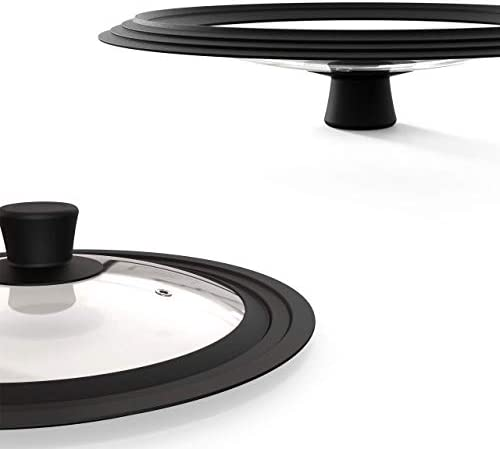 Universal Lids for Pots Pans and Skillets Tempered Glass Lid with Firm Silicone Edge Replacement product image