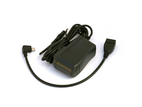 AC Home Wall Adapter Charger and OTG USB Host Cable for Coby Kyros MID7034 MID7036 Touchscreen Tablet