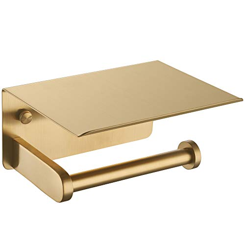 Top 10 best selling list for toilet paper holder with shelf brass