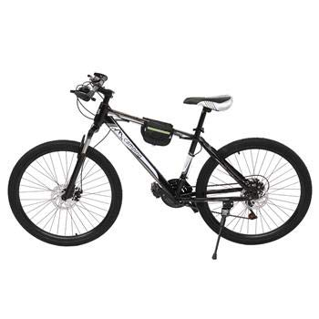 26 Inch Mountain Bike,Road Bike With Double-kill disc brake system,Shock-absorbing front fork,Full Suspension MTB Bikes for Men or Women Black And White