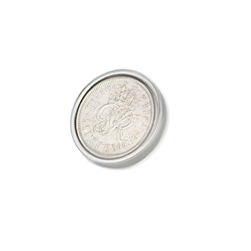 Polished Sixpence Lapel Pin/Brooch | 1950 Anniversary Coins 71st Birthday