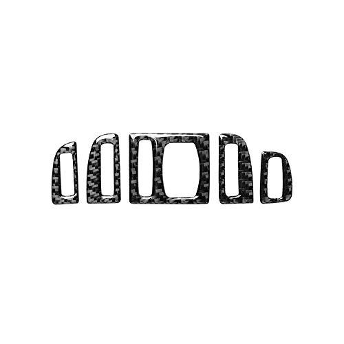 Fibra di Carbonio Telaio For BMW Serie 5 F10 2011-2017 fibra in carbonio di controllo CD dell'automobile pannello interno Sticker AC Pannello Telaio Uscita Aria Accessori ( Color Name : Air outlet A )
