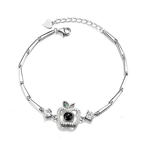 Pulsera de tenis para mujer, cristal de plata 925, piedra natal de diamante, clásico, ajustable, joyería de moda, regalo de pulsera de mariposa para mamá, novia, amigas/niñas/hija