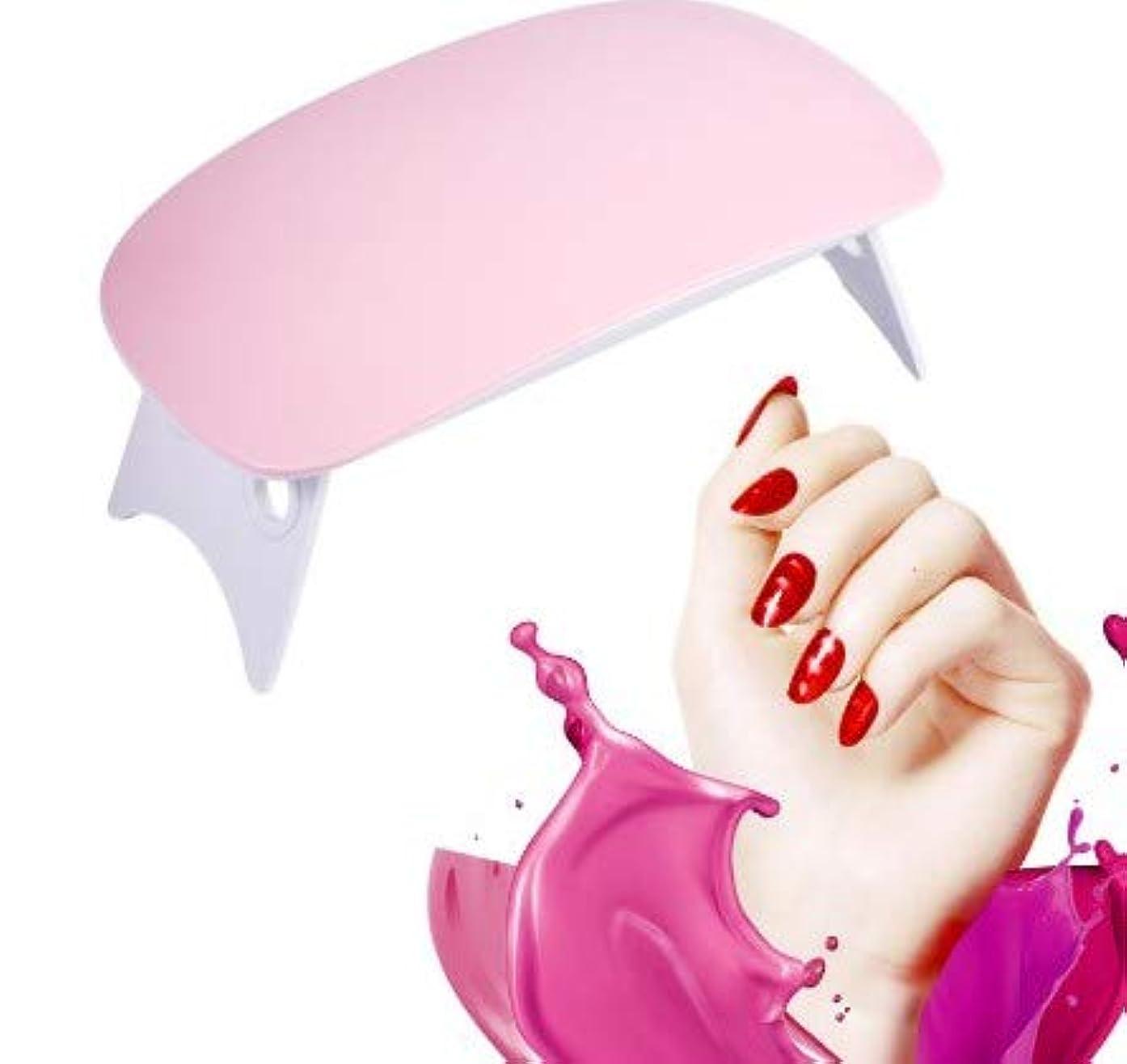 適度な壁紙マウスピースLEDランプを硬化させるミニネイルドライヤーUVジェルポリッシュ(ピンク)