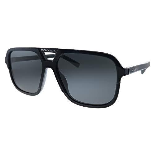 Ray-Ban 0DG4354 Occhiali da Sole, Nero (Black), 58 Uomo