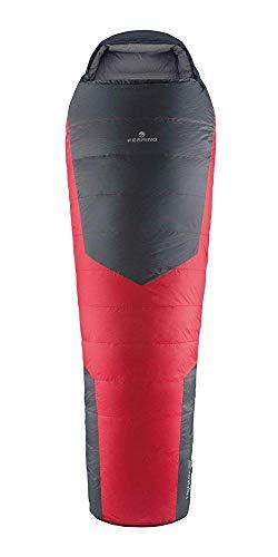 Ferrino SLEEPINGBAG LIGHTEC 800 Duvet Saco de Dormir Tiempo Libre y Senderismo, Adultos Unisex, Multicolor (Red/Grey), Talla Única