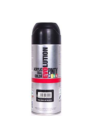 Evolution pinty color M123010 - Pintura spray acrilica 520 cc negro brillante