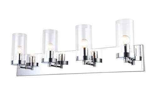 BETHEL INTERNATIONAL ZP120 4-Light Bathroom Vanity Lighting,Chrome