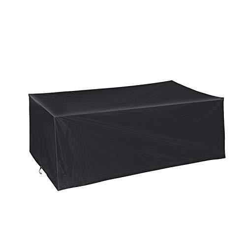 BWBG Fundas para Mesas De Exterior Cuadrada, Cubiertas para Muebles De Patio Oxford 210D Resistente Al Polvo Anti-UV Funda Protectora Muebles - 155 * 95 * 68cm