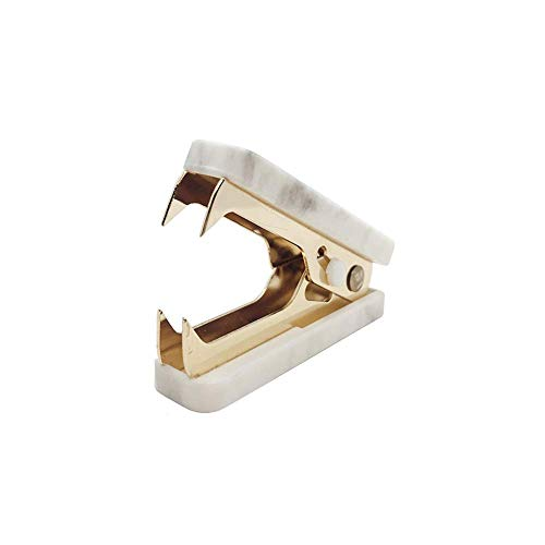 1 Pack Marble Print Staple Remover Gold Glitter Metal Jaws Staples Puller Removal Tool for Home Office School Desk Stapling Accessories Supplies (1)