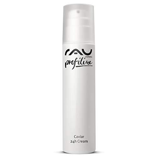 RAU Caviar 24h Crema 200 ML Profiline - Anti Aging Crema per il viso per feuchtigkeitsarme della pelle con Aloe Vera, Estratto di Albicocca, Caviar, Olio di Mandorle, Burro di Karitè e Q10