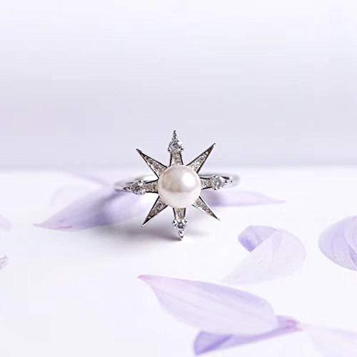 Yarmy ring verstelbaar S925 sterling zilver mode zon bloem natuurlijke parel opening ring vriendin verjaardag verzenden sieraden accessoires voor dames